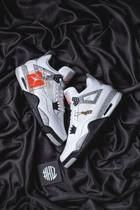 "H12纯原 Air Jordan 4 Retro ""White Cement "" (2016) 白水泥"
